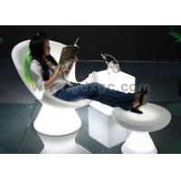 China Plastic LED Chaise Lounge Chair Bar LED Chair with Foot Stool wholesale