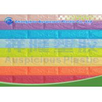 China Mixed Color 3D Self Adhesive Brick Foam Wallpaper / Panel Heat Isolation For Bedroom on sale