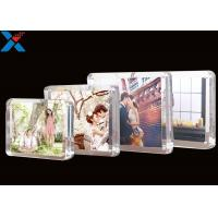 China Clear Magnet Acrylic Photo Frame PMMA Certificate Pictures Table Frame wholesale