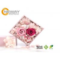 China Flower Gift Box , Pink Rose Waterproof Square flower paper box for Saint Valentine's Day wholesale