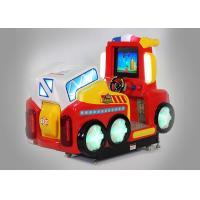 China Fire Fighting Car Tow Player Coin Operated Amusement Rides Educational Function wholesale