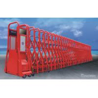 China Red Electric Automatic Retractable Gate Trackless with Anti-Collision IR Sensor wholesale
