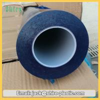 China 60mic Blue Polyethylene Plastic Film Glass Protection Tape Stable Adhesive wholesale