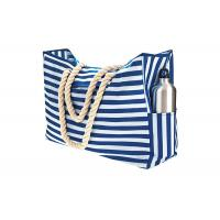 China Blue Sky Oxford Waterproof Beach Bags And Totes 12A Canvas Polyester Handbags on sale