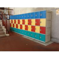 China Red School Lockers With Clover Keyless Lock , 5 Tier Lockers For Students wholesale