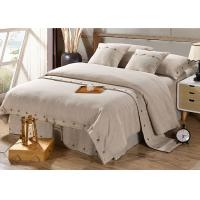 China Pure Linen Wooden Buttons Modern Bedding Sets 4Pcs Real Simple Logo Customized wholesale