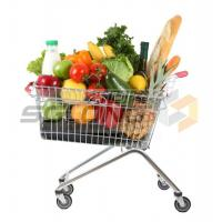 Quality Unfolding Colored Supermarket Shopping Trolley Baskets for sale