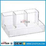 China wholesale Desk Stationery With Pen Holder acrylic Office Desk Organizer wholesale