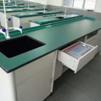 China Aluminium Wood Structure School Lab Furniture Laboratory Workbench Science Lab Bench Biology Laboratory Table wholesale
