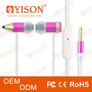 China Stylish headphone with soft silicone earbug & mic iPhone mp3 nokia style magic pencil touch writting wholesale