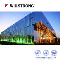 China Fireproof Mirror Aluminum Composite Panel Cladding For Buildings 5600mm Length wholesale