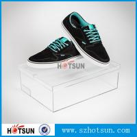 China Customized color and logo printed acrylic shoe box, Factory Custom Made Clear Storage Shoe Box wholesale