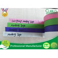 China Colored Crepe Paper without Residue Rubber Masking Tape 30m 48m Length wholesale