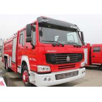15CBM LHD 290HP Fire Fighting Truck , SINOTRUK HOWO Tanker Fire Truck