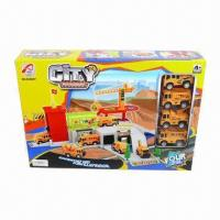 China Construction Parking Lot with 4 Pieces of Cars, 41.0 x 8.0 x 29.0cm Box Size wholesale
