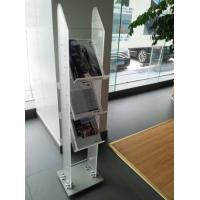 China 8mm Frosted Acrylic Stationery Holder , 3 Tier Book Multi-Pocket Shelves wholesale