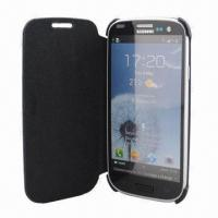 China Flip Case for Samsung Galaxy S3/i9300, 100pcs MOQ, Various Colors are Available wholesale