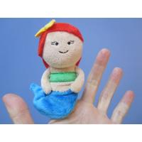 Quality 12cm Lovely Mermaid Plush Finger Puppets For Toddlers , Blue And Red for sale