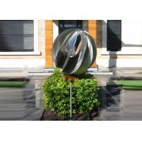 China Attractive Stainless Steel Sphere Sculpture / Contemporary Steel Sculpture wholesale