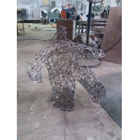 China Custom Abstract Wire Sculpture , Movement Metal Art Sculpture Interior Decoration Gifts wholesale