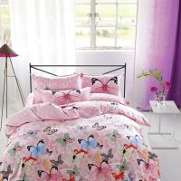Quality Modern Home Bedroom 4 Piece Bedding Sets 100% Cotton Tancel Material Butterfly Design for sale