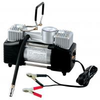 China Silver Two Cylinder 12v Heavy Duty Vehicle Air Compressor With Handle 1 Year Warranty wholesale