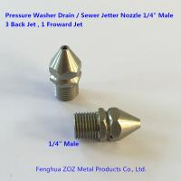 "China 1/4"" Male Stainless Steel Sewer Cleaner Jetter Nozzle (4 Jets) wholesale"