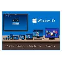 China Paper box 32 bit 64 bit Microsoft Windows 10 Operating System License Activate Globally Online on sale