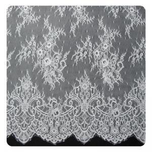 China Embroidered Nylon Eyelash Lace Trim Shorts / Embroidered Lace Fabric wholesale