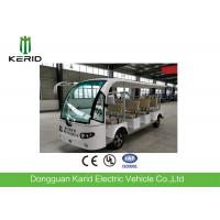 Quality Classic Design R12 Vacuum Tire 72V 11seats Electric Bus Tourist Buggy With a Mini Cargo Container Suits For Air Port for sale