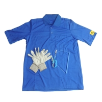 China EN 61340 Static Dissipative ESD T Shirt With 10E6-8 Antistatic Glove wholesale
