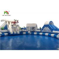 China Custom Polar Bear White Giant Inflatable Floating Water Park Durable Odourless wholesale