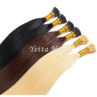 China Pure 24 Inch Pre Bonded I Tip Hair Extensions With Soft And Silky on sale