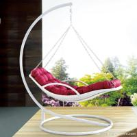 China Premium Indoor Outdoor Furnitures PE Rattan White Day Bed Style Swing Hanging Chair wholesale