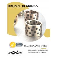China Graphite Plugged Solid Lubricant Bearings Extremely High Load Capacity wholesale