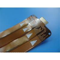 Buy cheap Single-sided flexible PCBs with Polyimide PCBs Stiffener coverlay yellow FPC from wholesalers