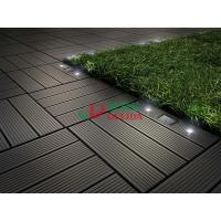 China Diy Interlocking Composite Deck Tiles Wood Plastic Composite Solar With LED Lights wholesale