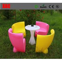 China Adjustable Brightness LED Table And Chairs For Home Decoration / Nightclub wholesale