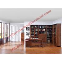 China Solid Wooden with Glass Door Material Bookcase Set  for Living Room Furniture wholesale