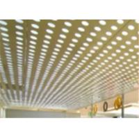 China Security Ceilings MS Perforated Metal Mesh Sheet Back Light With PVC Coating wholesale