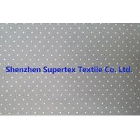 China Cotton Twill Dot Print Elastic Stretch Fabric 32S 40D 180GSM wholesale