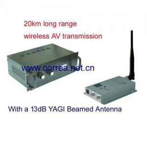 China 1.2GHz 10W wireless AV transmitter receiver wholesale