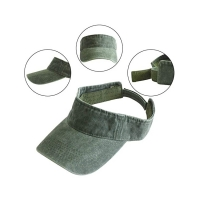 China Adults Empty Plastic PVC Sun Visor Cap Velcro Back Closure wholesale