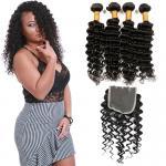 China Natural Black Virgin Brazilian Hair Extensions , 4 Bundles Of Brazilian Hair wholesale