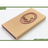 China Eagle Design Real Leather Power Bank Portable 3000mAh Mobile Phone Chargers wholesale