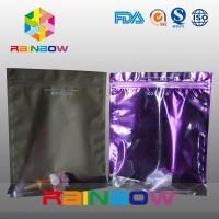 China Stand Up Plastic Cosmetic Bag , PA / PE Cosmetic Packaging Bag Front Transparent wholesale