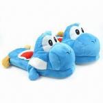 China Blue Yoshi Slippers for Mario Plush wholesale