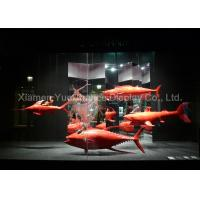 China Custom Red Color Fiberglass Fish Statues Normal Painting Surface Design wholesale