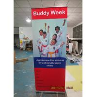 China Outdoor Trade Show Display Banners , Tabletop Retractable Banner Water Resistant Print wholesale