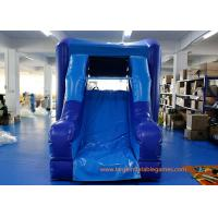 China Safety Blue PVC Commercial Inflatable Water Slides For Children wholesale